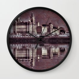 thee graces reflected Wall Clock