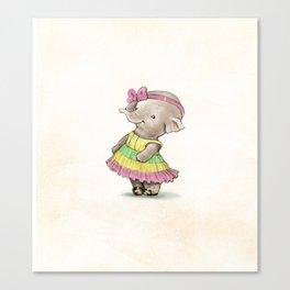 Shy Ellie Canvas Print