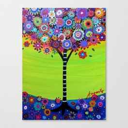Mexican Tree of Life Painting by prisarts Canvas Print