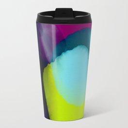 color abstract mauve green magenta vibrant Travel Mug