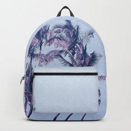 Aqua Pink Palm Trees Tropical Morning Backpack
