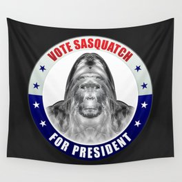 Sasquatch For President Wall Tapestry