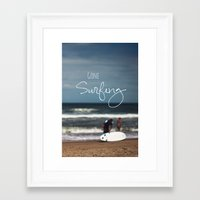 surfing Framed Art Prints featuring Surfing by Brandy Coleman Ford