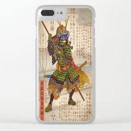 Samurai Turtle- Donatello Clear iPhone Case