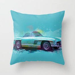 Classic 300 SL Roadster Throw Pillow
