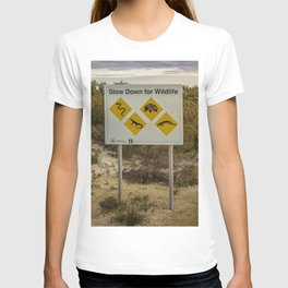The Australian Roadtrip of Wildlife Road Signs T-shirt