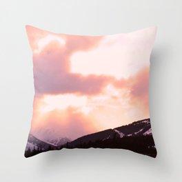 Rose Quartz Turbulence - II Throw Pillow