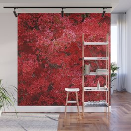 Charming Red Flower Wall Mural