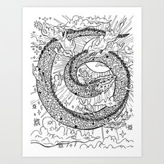 Cloud Dragon Art Print