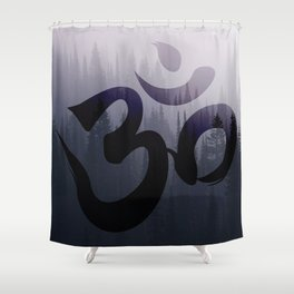 OM: Hint of Mist Shower Curtain