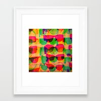 sunglasses Framed Art Prints featuring Sunglasses by Kaos and Kookies