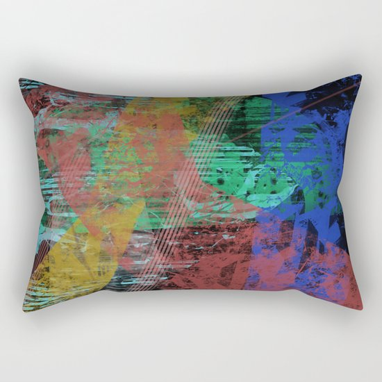 Black abstract designe Rectangular Pillow
