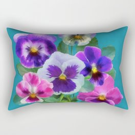 Bouquet of violets I Rectangular Pillow