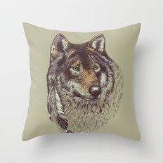 Wolfen Throw Pillow