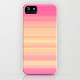 Pink Yellow Gradient Stripes iPhone Case