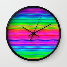 Rainbow Haze Wall Clock