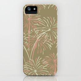 Fireworks Bloom on Cafe au Lait iPhone Case