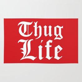 THUG LIFE (Red) Rug