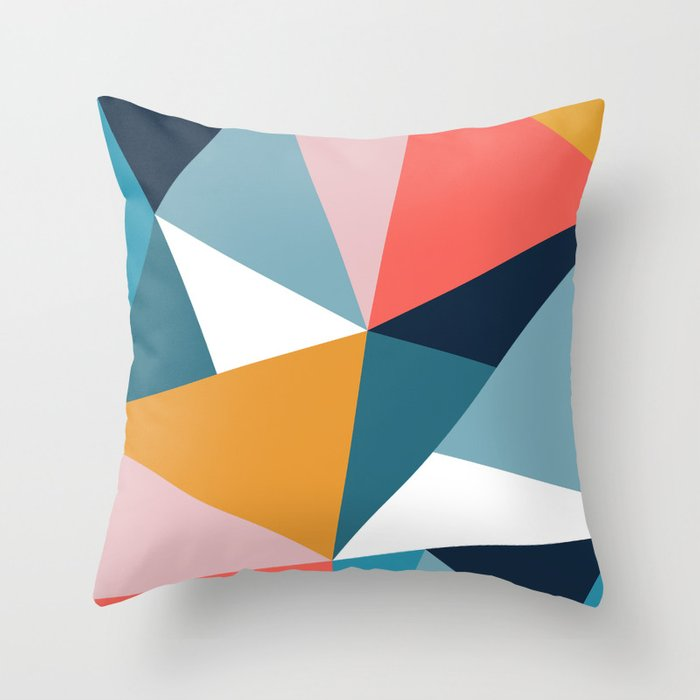 Modern Geometric 35 Throw Pillow