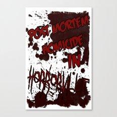 HorrorVille 13 B-movie flyer. Canvas Print