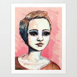 Peach Art Print