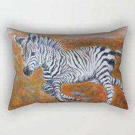 Zebra Freedom by Marianne Fadden Rectangular Pillow