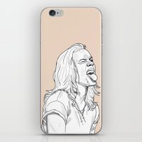 harry styles iPhone & iPod Skins featuring Harry Styles by Cécile Pellerin