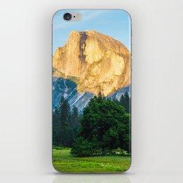 Yosemite half dome at sunrise iPhone Skin