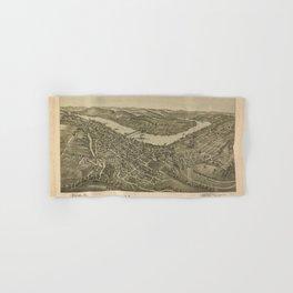 1897 street plan of Morgantown West Virginia Hand & Bath Towel