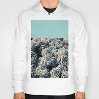 succulents Hoodies featuring Succulents by Leah Flores