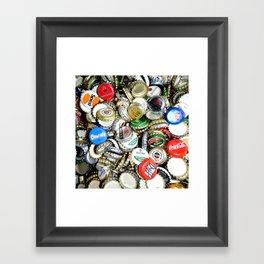 Bottle Caps Painting | Vintage Framed Art Print
