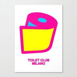 TOILET CLUB #toiletpaper Canvas Print
