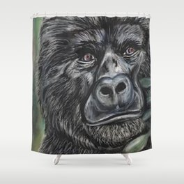 Gorilla Print Gorillas in the Jungle Shower Curtain