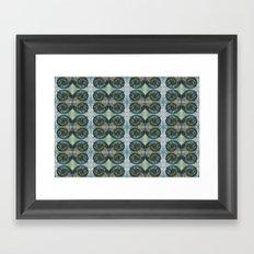 spirals and diamonds Framed Art Print