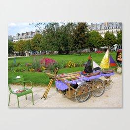 Tuileries Garden Boat Rental Canvas Print