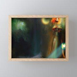 Rain in the dark Framed Mini Art Print