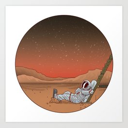 Mars Vacation Art Print