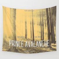 movie poster Wall Tapestries featuring Prince Avalanche - Movie Poster by ahutchabove