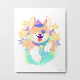 Flower Patch Pup Metal Print