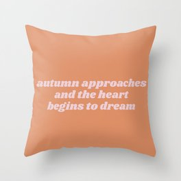 autumn approaches Throw Pillow