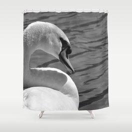 Sunning Swan by Teresa Thompson Shower Curtain