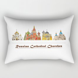 Colorful Cathedral Churches Rectangular Pillow