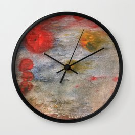 Rosy brown clouded wash painting Wall Clock