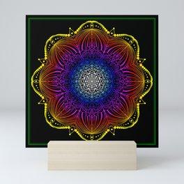 Gypsy Carnival Lights Mandala Mini Art Print
