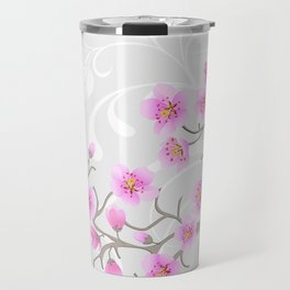 Japanese Cherry Flowers Travel Mug