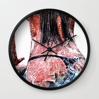 pool Wall Clocks featuring Pool by Nester Formentera