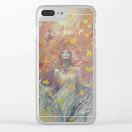 Give Thanks Clear iPhone Case