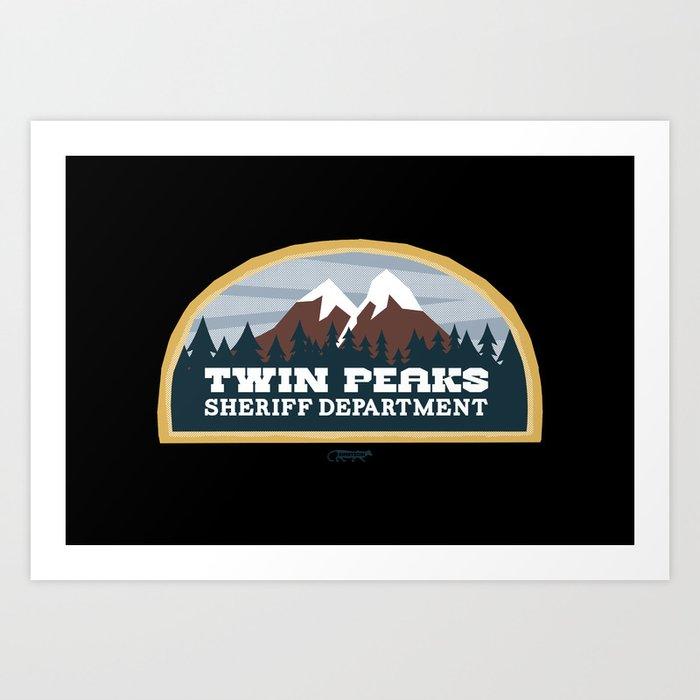 Twin Peaks Sheriff Department (Redux) Art Print