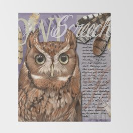 The Screech Owl Journal Throw Blanket