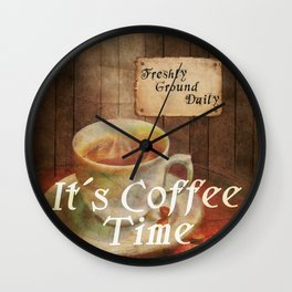 It´s Coffee Time Wall Clock